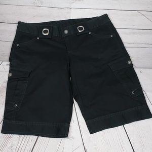 Athleta KICK IT Black Bermuda Cargo Shorts Size 2